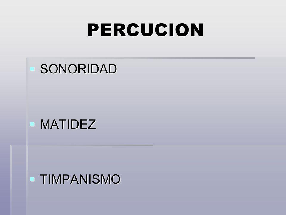 PERCUCION SONORIDAD MATIDEZ TIMPANISMO