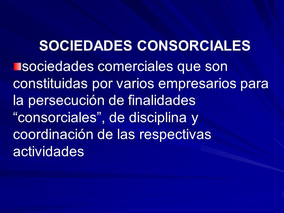 SOCIEDADES CONSORCIALES
