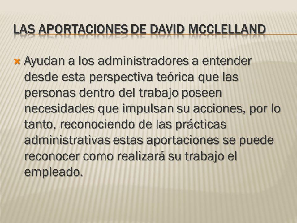 Las aportaciones de David McClelland