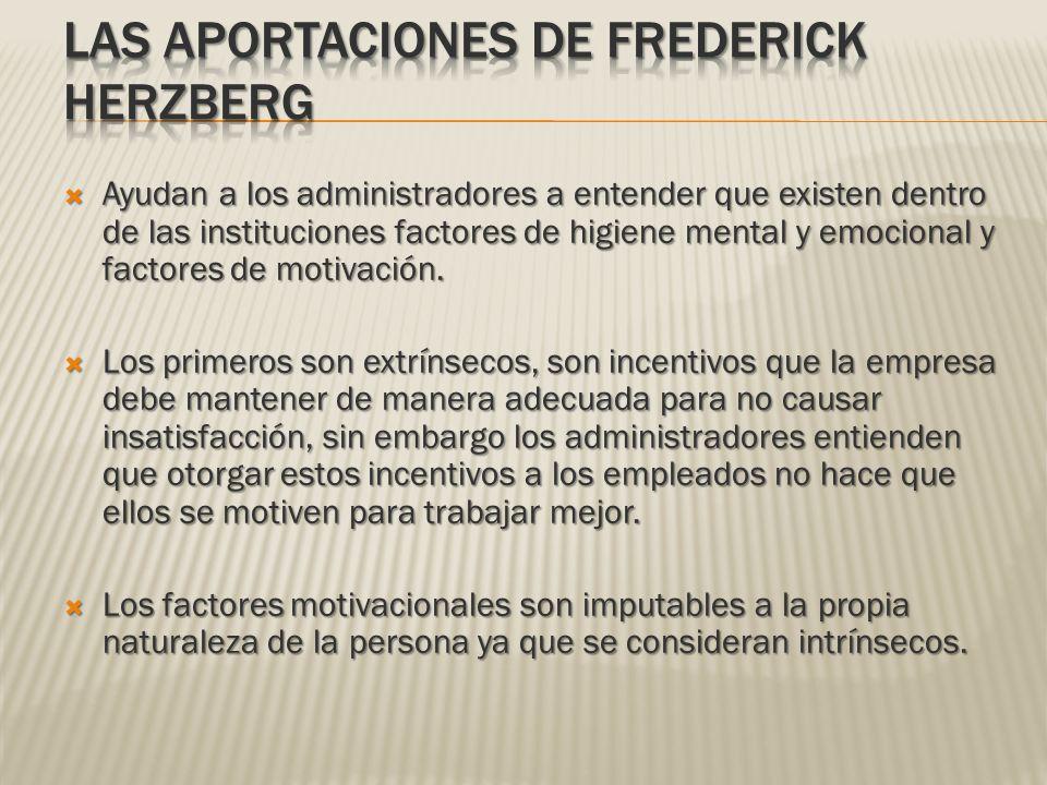 Las aportaciones de Frederick Herzberg