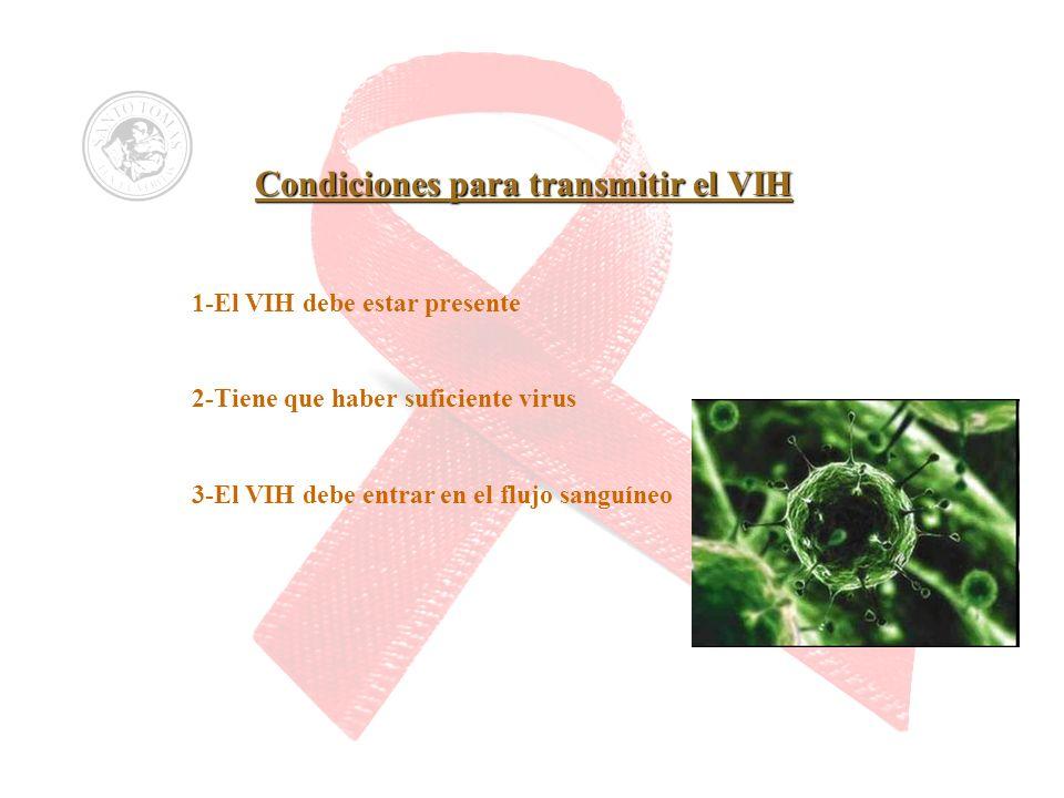 Condiciones para transmitir el VIH