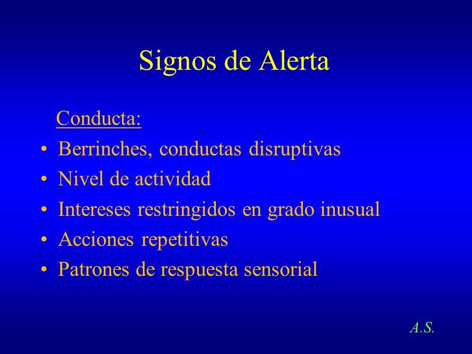 Signos de Alerta Conducta: Berrinches, conductas disruptivas