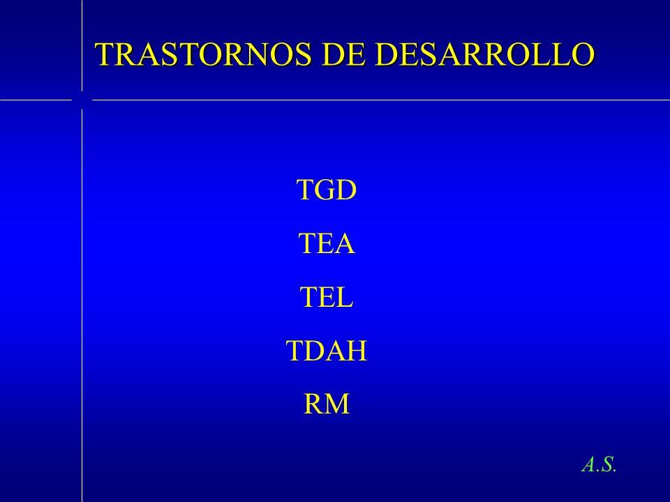 TRASTORNOS DE DESARROLLO