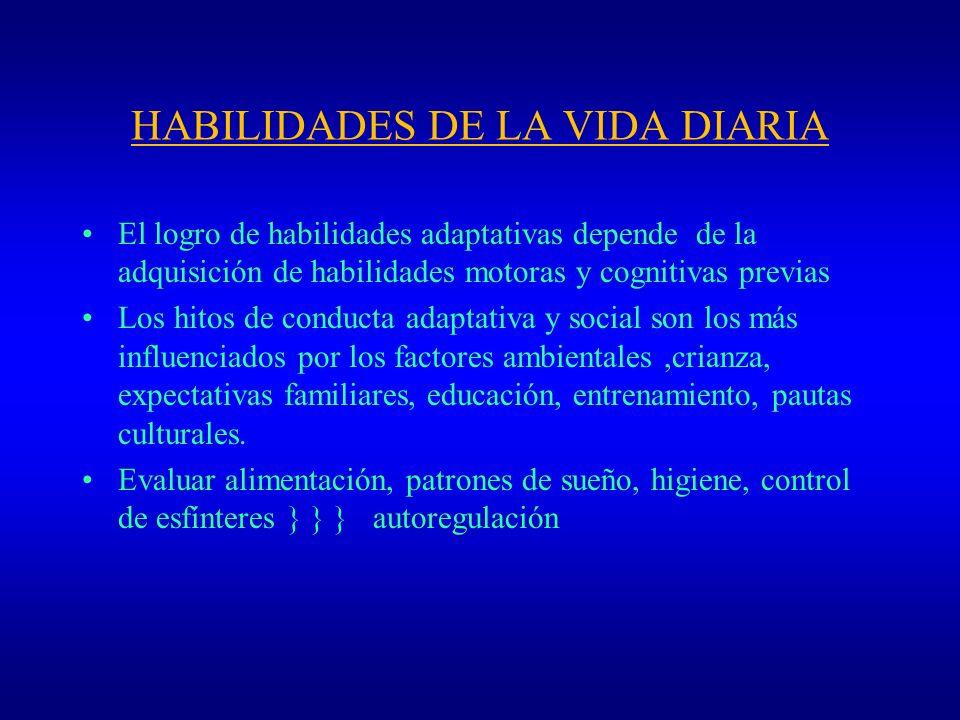 HABILIDADES DE LA VIDA DIARIA