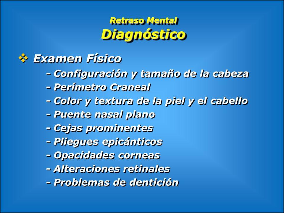 Retraso Mental Diagnóstico