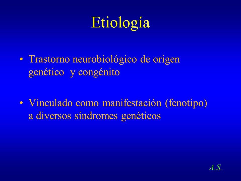 Etiología Trastorno neurobiológico de origen genético y congénito