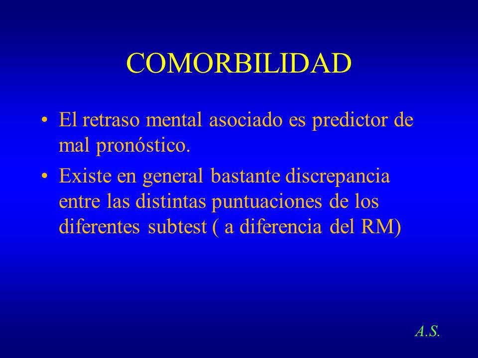 COMORBILIDADEl retraso mental asociado es predictor de mal pronóstico.