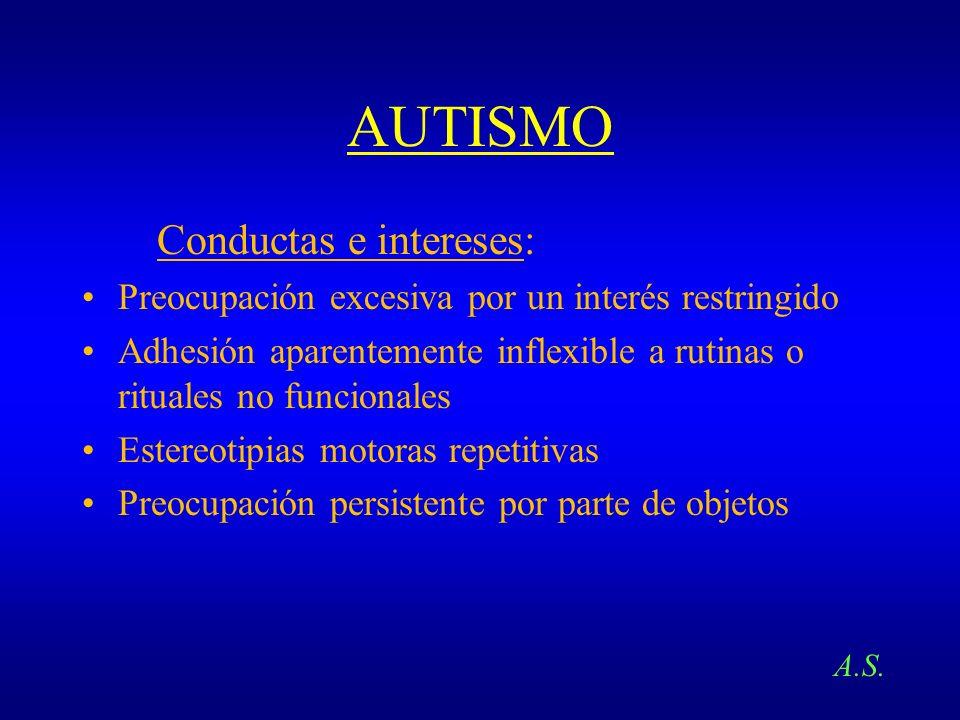 AUTISMO Conductas e intereses: