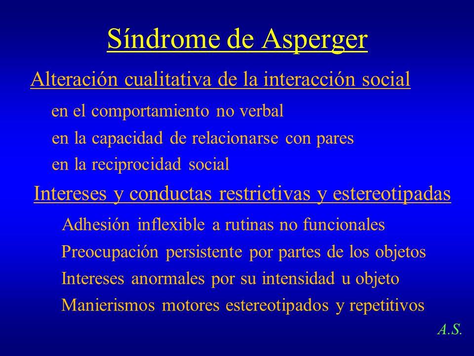 Síndrome de Asperger Alteración cualitativa de la interacción social