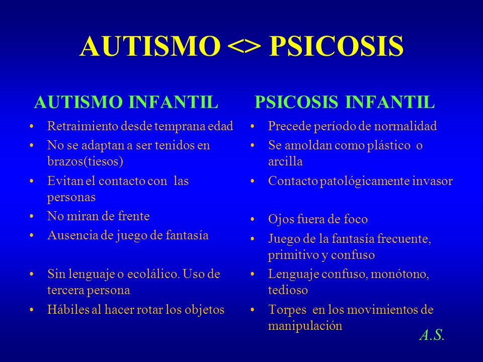 AUTISMO <> PSICOSIS