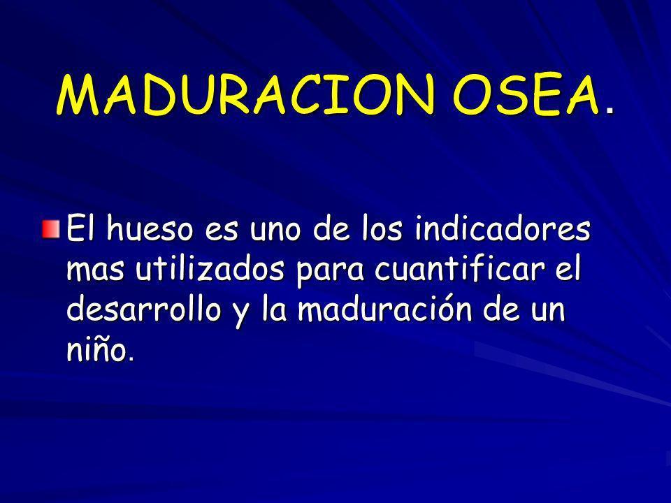 MADURACION OSEA.
