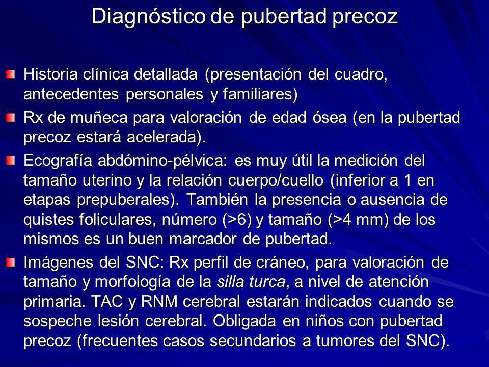 Diagnóstico de pubertad precoz