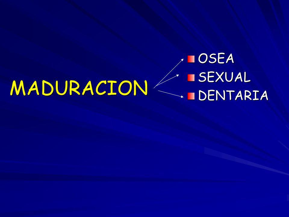 OSEA SEXUAL DENTARIA MADURACION
