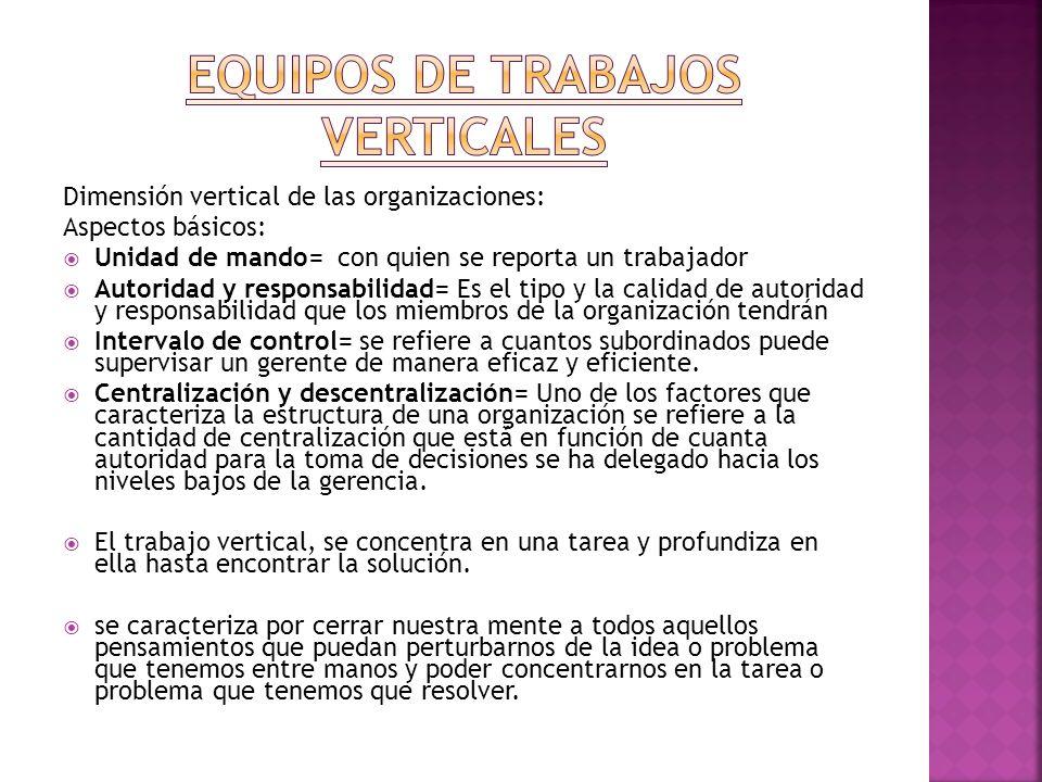 EQUIPOS DE tRABAJOS VERTICALES