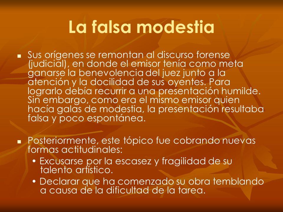 La falsa modestia