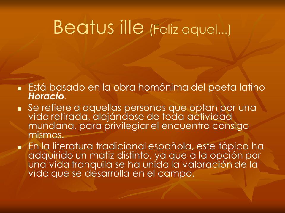 Beatus ille (Feliz aquel...)