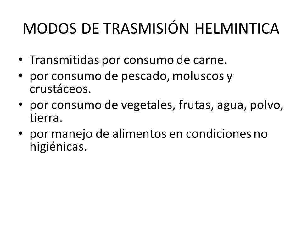MODOS DE TRASMISIÓN HELMINTICA