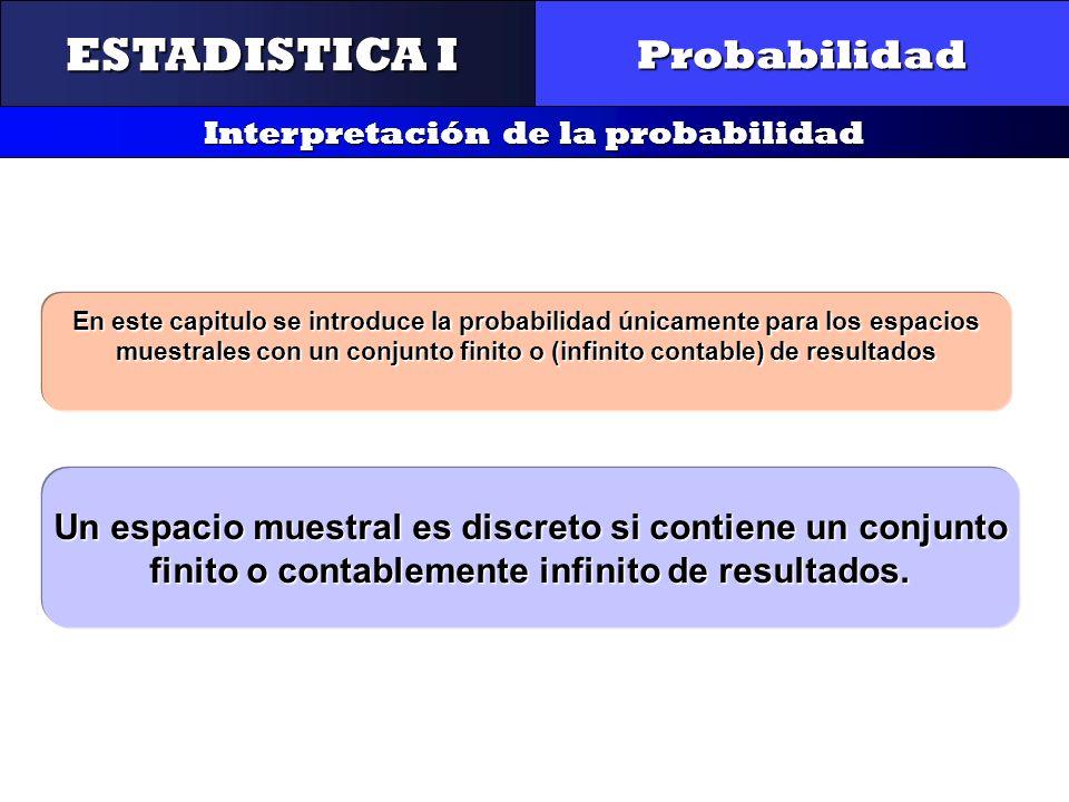 ESTADISTICA I Probabilidad