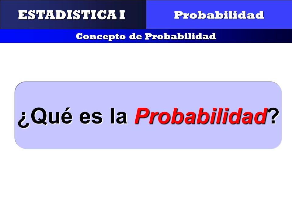 Concepto de Probabilidad ¿Qué es la Probabilidad