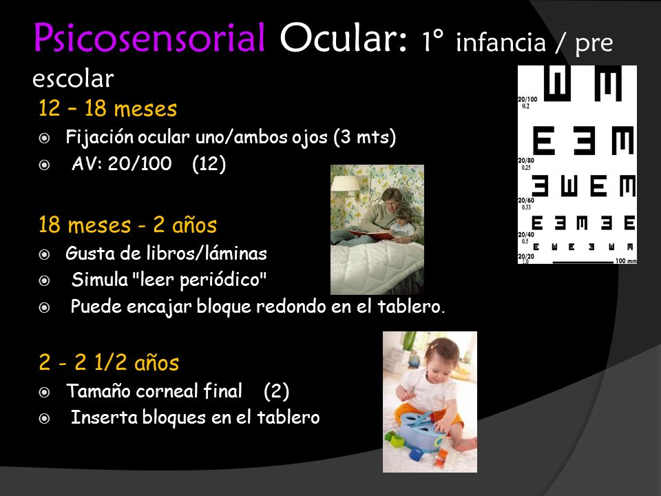 Psicosensorial Ocular: 1° infancia / pre escolar