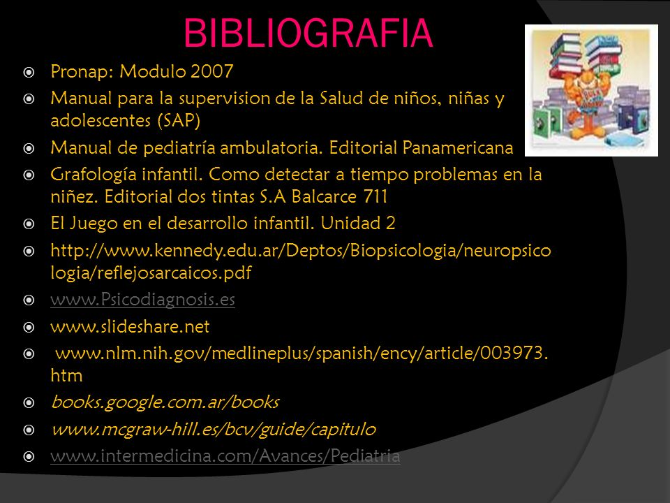BIBLIOGRAFIA Pronap: Modulo 2007