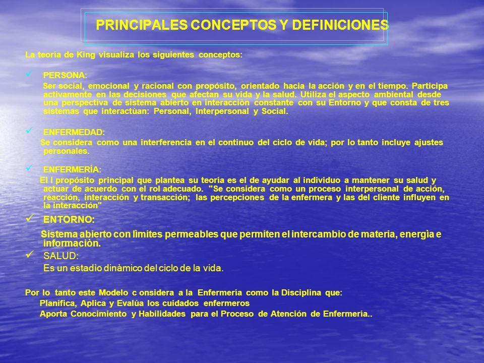 PRINCIPALES CONCEPTOS Y DEFINICIONES