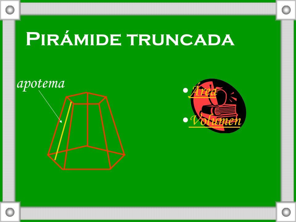 Pirámide truncada apotema Área Volumen