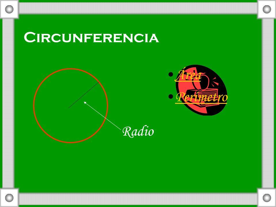 Circunferencia Área Perímetro Radio