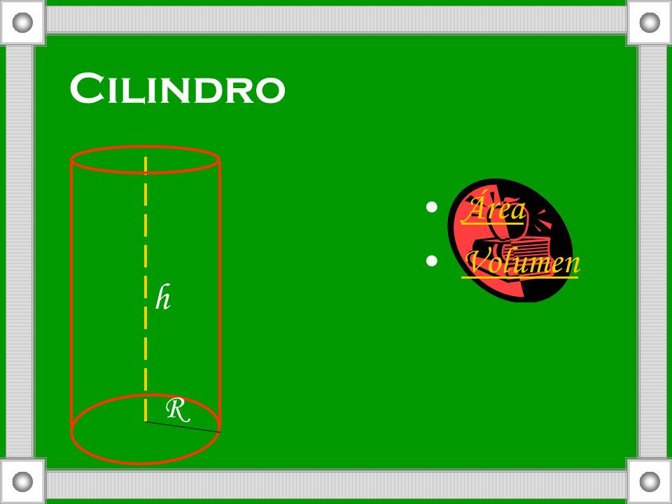 Cilindro Área Volumen h R