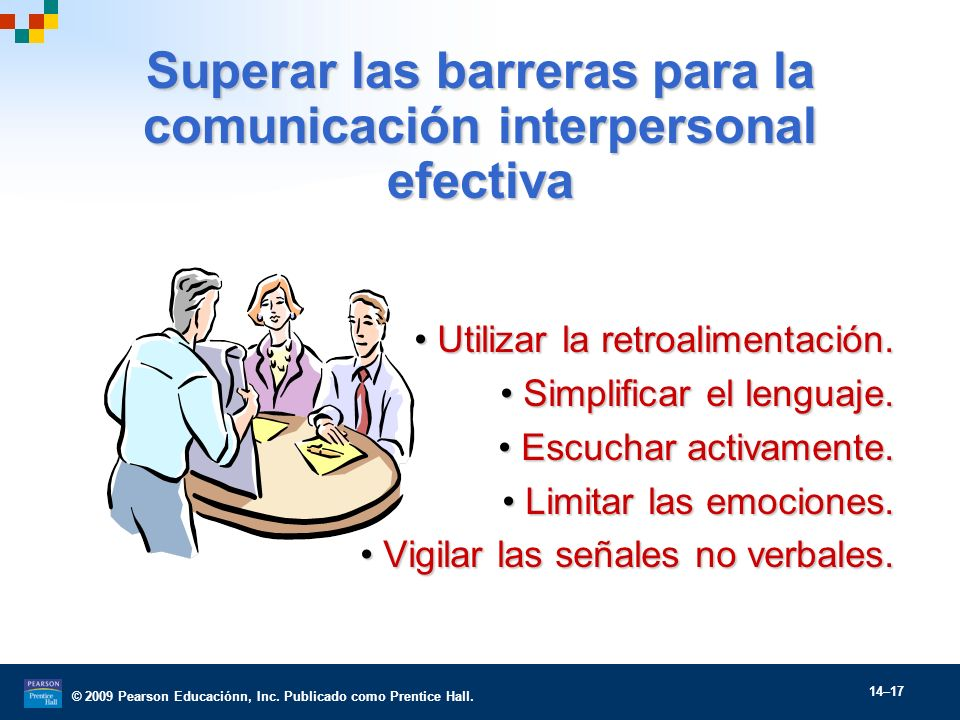 Superar las barreras para la comunicación interpersonal efectiva