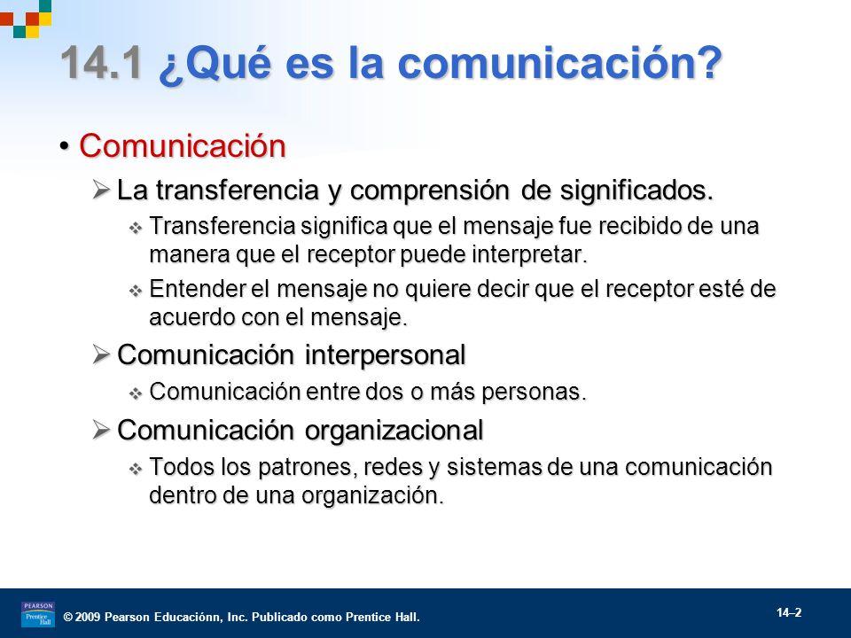 14.1 ¿Qué es la comunicación