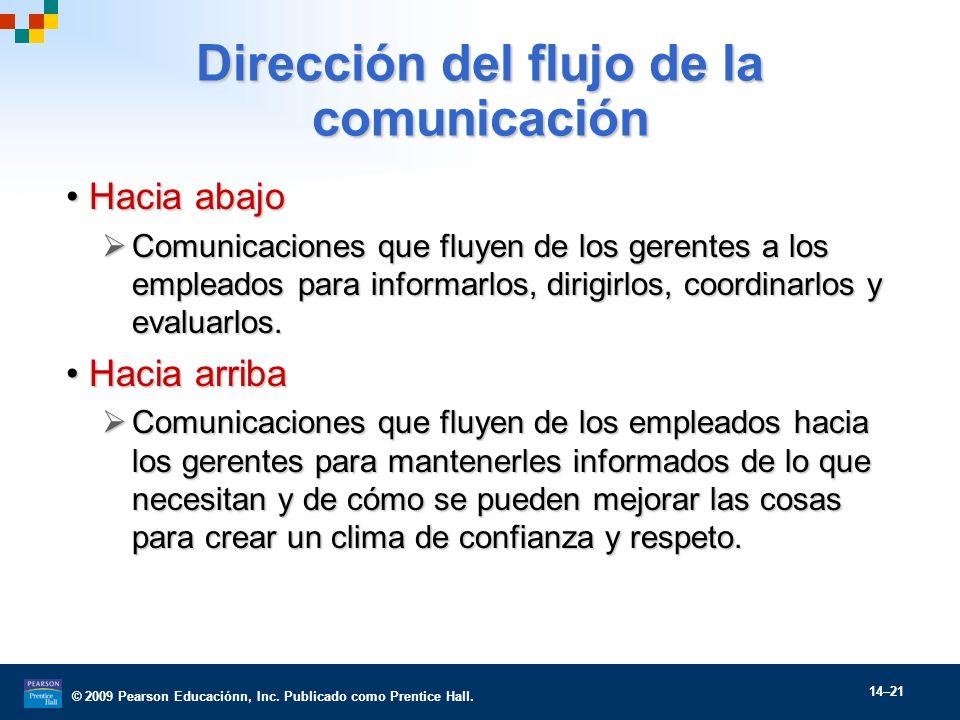 Dirección del flujo de la comunicación