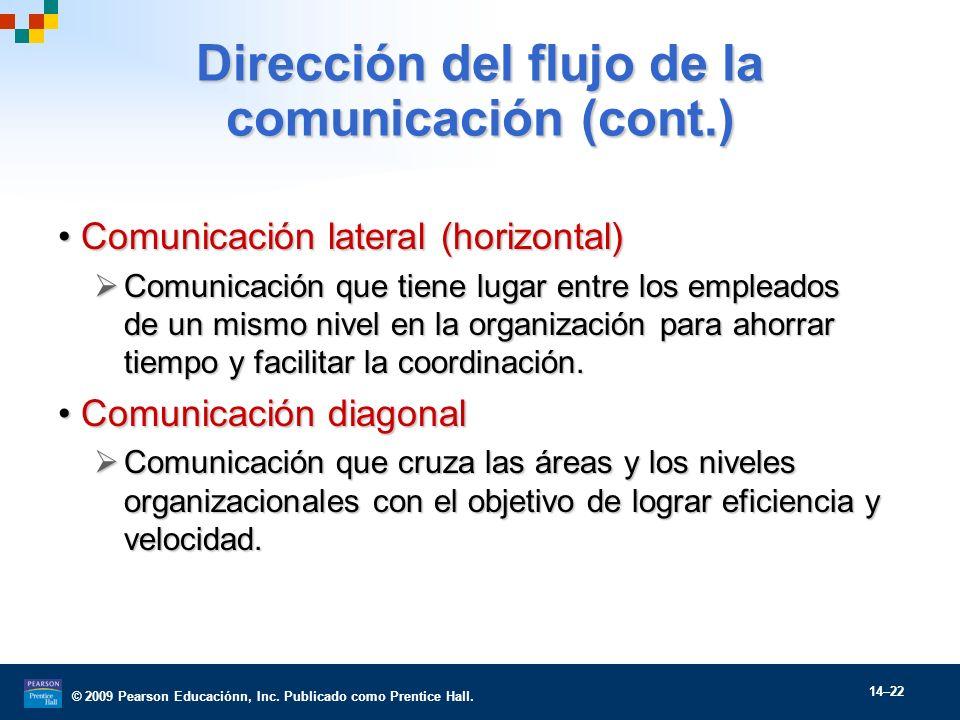 Dirección del flujo de la comunicación (cont.)