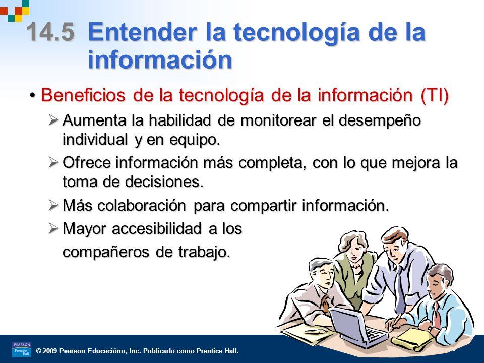 14.5 Entender la tecnología de la información