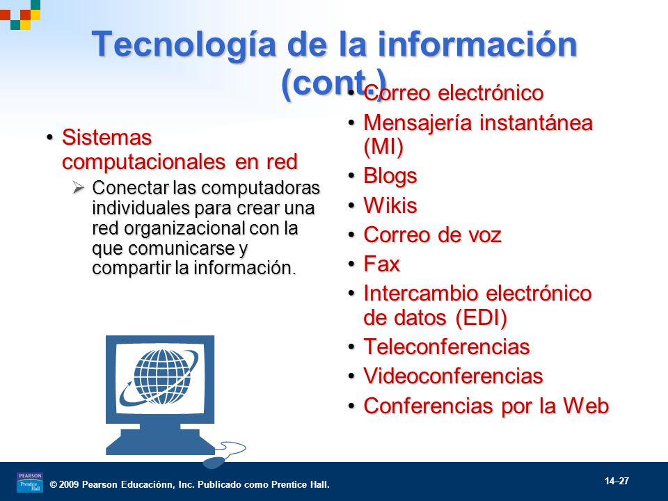 Tecnología de la información (cont.)