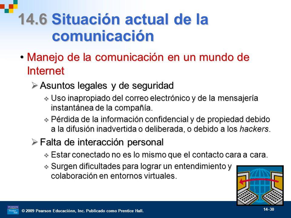 14.6 Situación actual de la comunicación