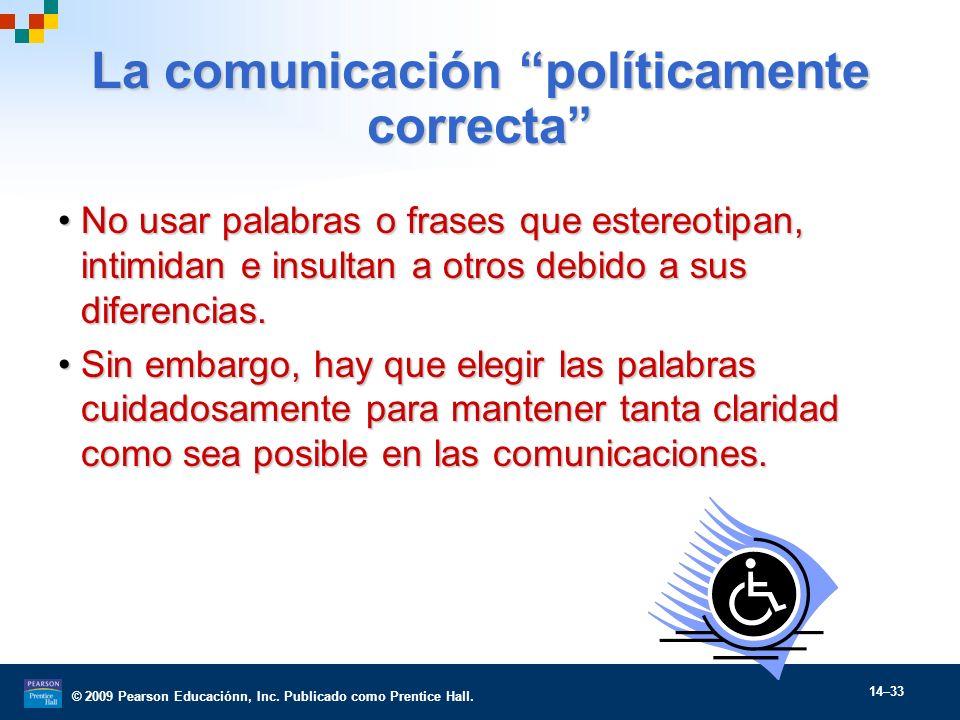 La comunicación políticamente correcta