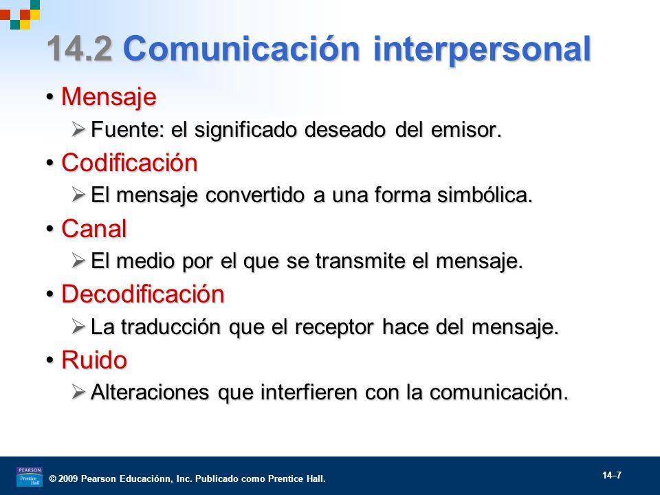 14.2 Comunicación interpersonal