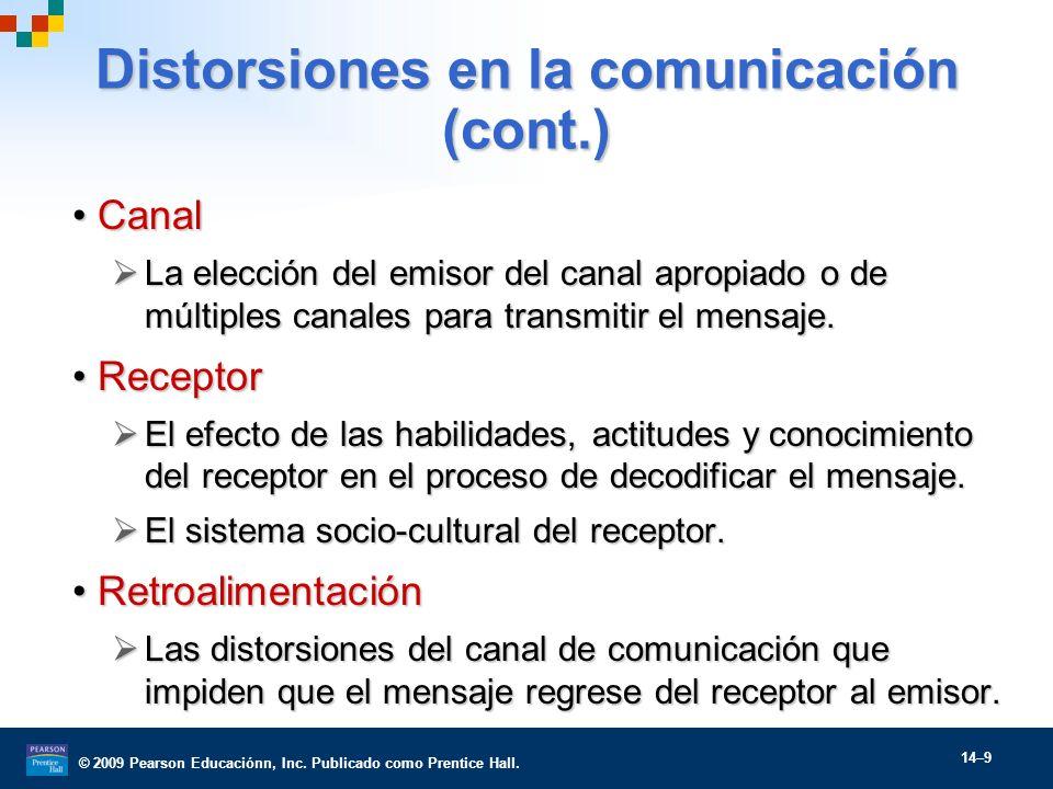 Distorsiones en la comunicación (cont.)