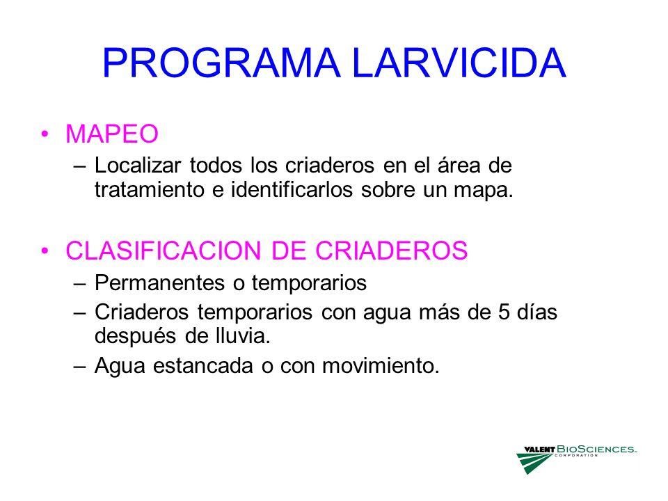 PROGRAMA LARVICIDA MAPEO CLASIFICACION DE CRIADEROS