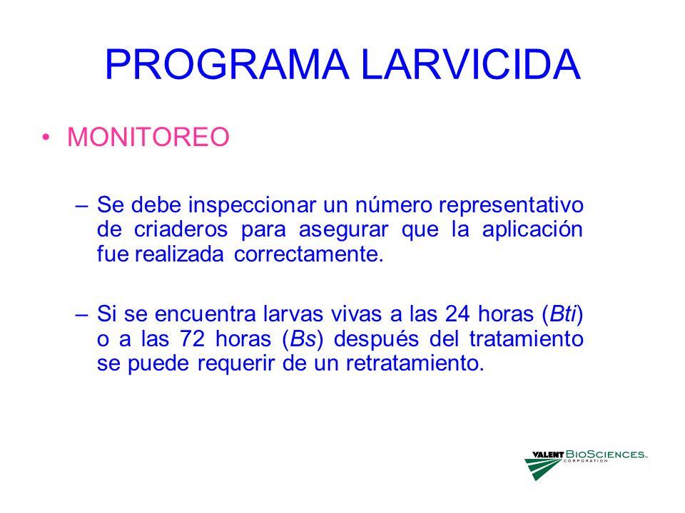 PROGRAMA LARVICIDA MONITOREO