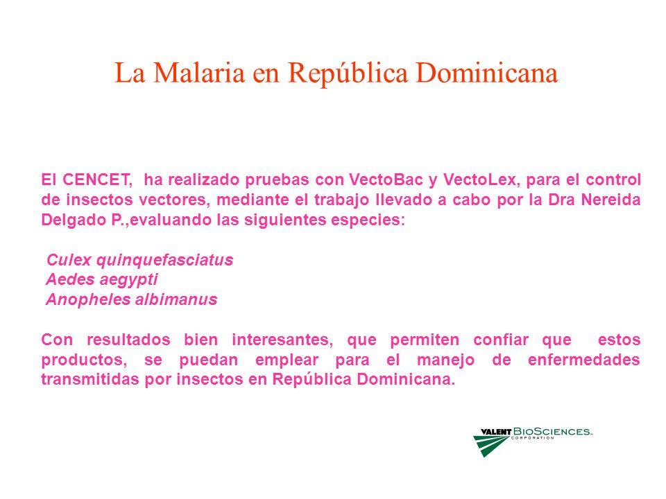 La Malaria en República Dominicana
