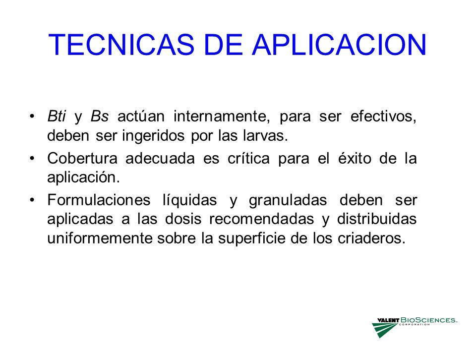TECNICAS DE APLICACION