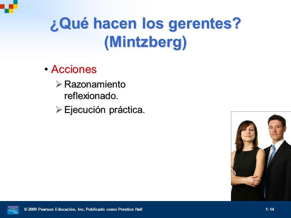¿Qué hacen los gerentes (Mintzberg)