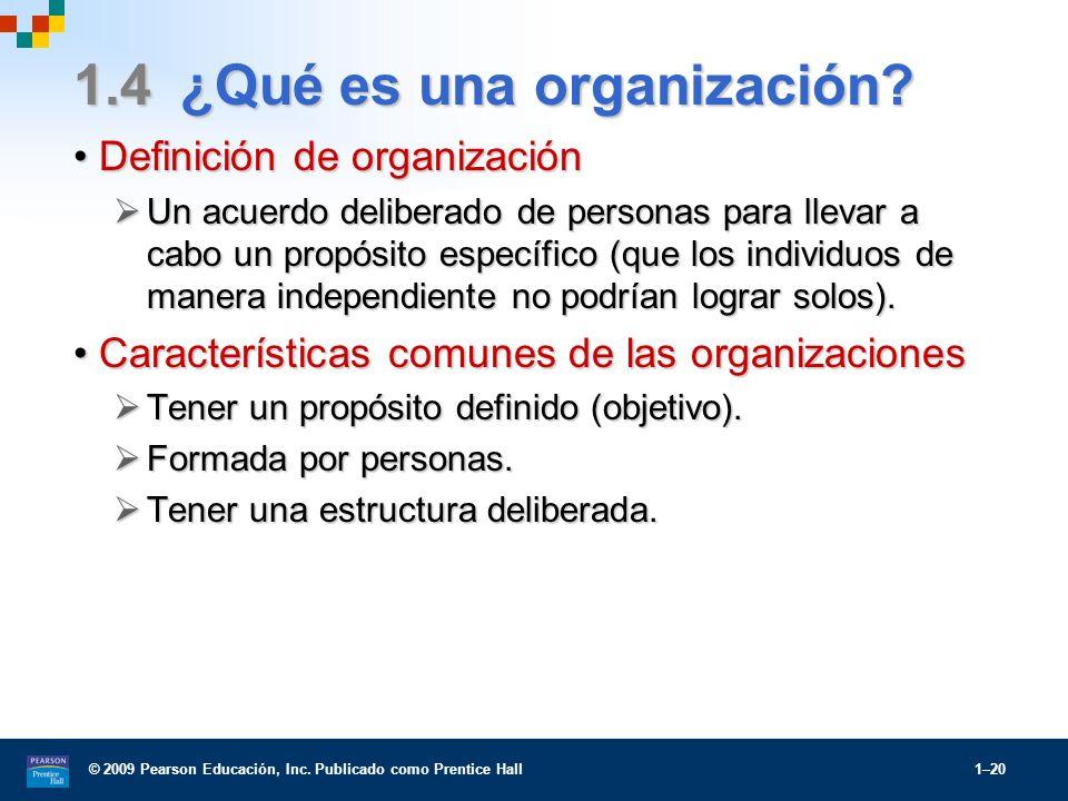 1.4 ¿Qué es una organización