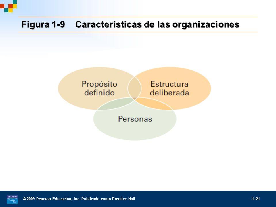 Figura 1-9 Características de las organizaciones