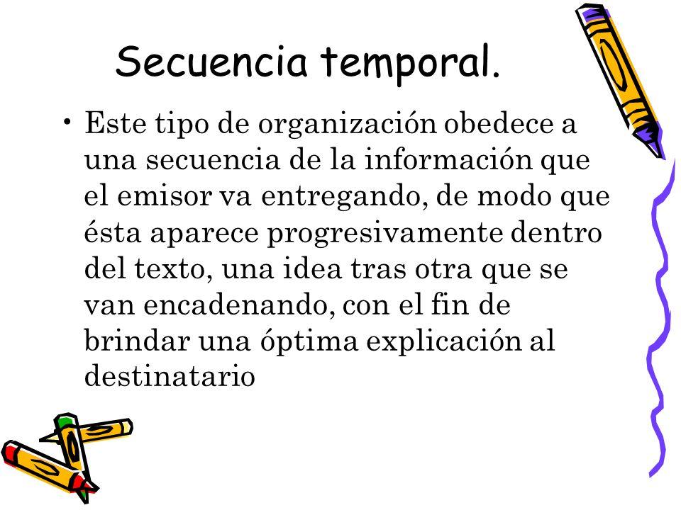 Secuencia temporal.