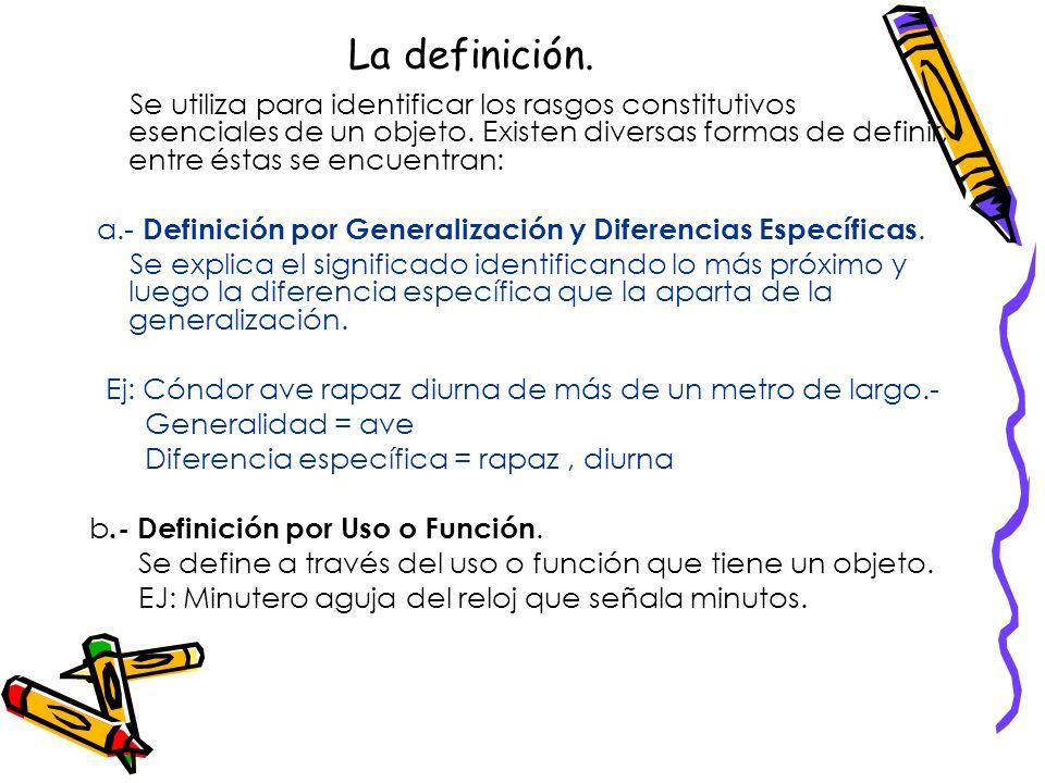 La definición.