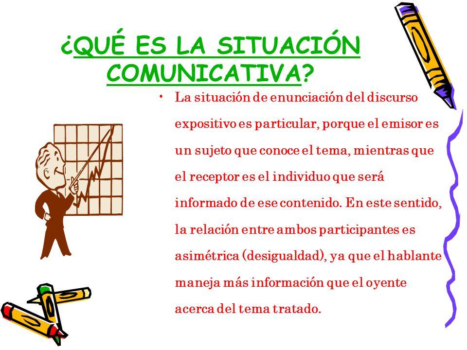 ¿QUÉ ES LA SITUACIÓN COMUNICATIVA
