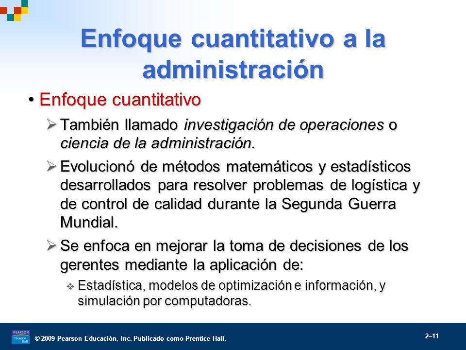 Enfoque cuantitativo a la administración